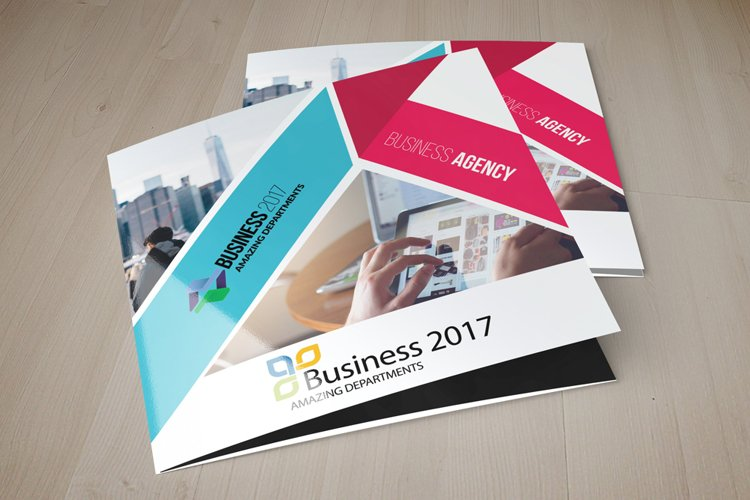 Business Agency Square Trifold Brochure example image 1