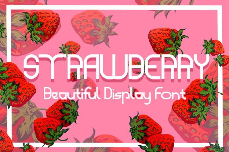 STRAWBERRY - beautiful display font example image 1