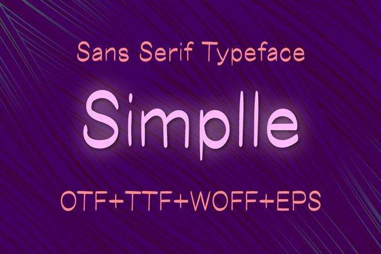 Simplle sans serif font