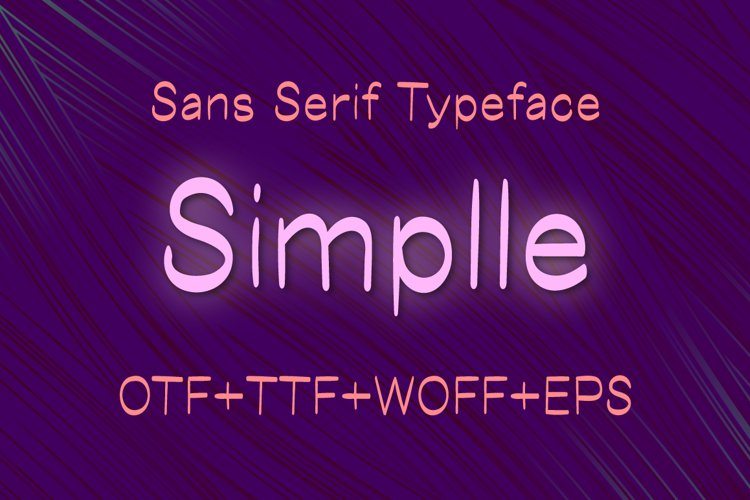 Simplle sans serif font example image 1