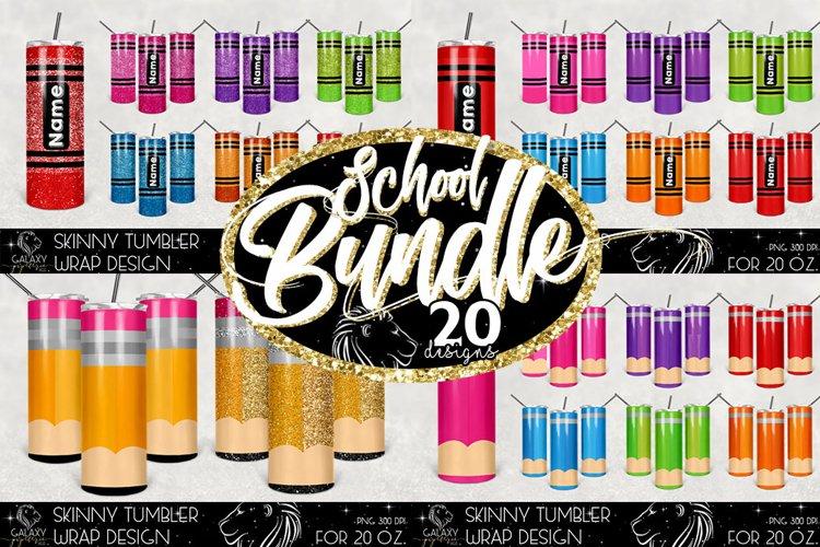 Huge Bundle 20 Oz. Skinny Tumbler Wrap Sublimation Design example image 1