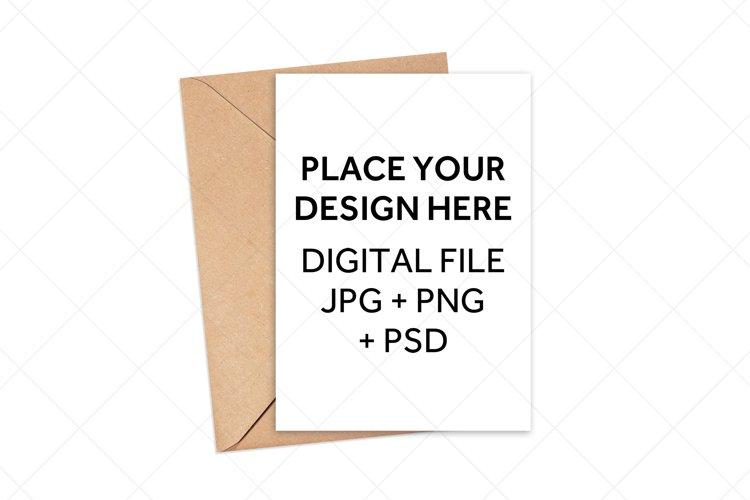 Greeting Card Mockup - White Envelope Invitation Mock Up example image 1