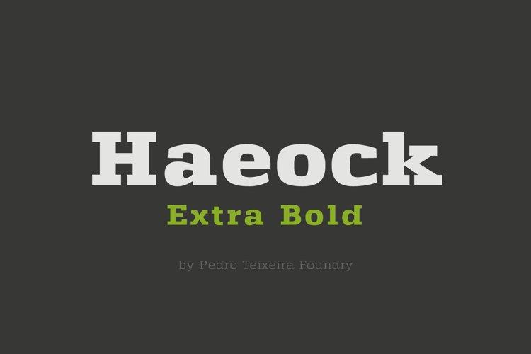 Haeock Extra Bold example image 1