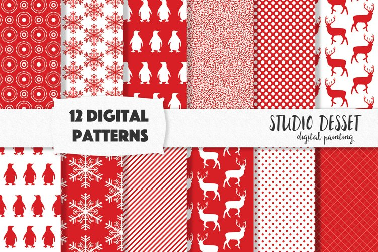 Christmas Digital Patterns, Sublimation Paper