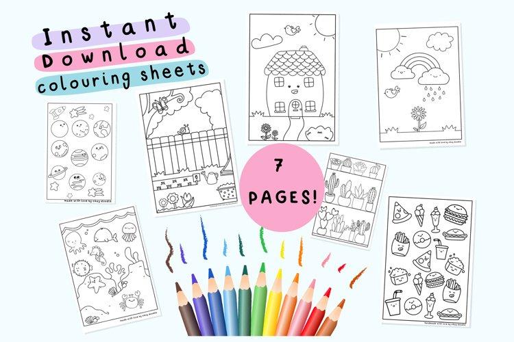 SEVEN AT HOME Colouring sheets - Print at home