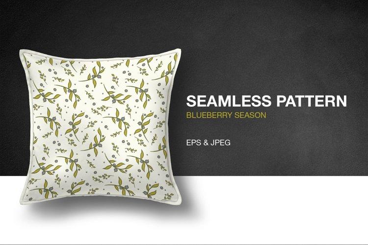 Blueberry Season Seamless Pattern