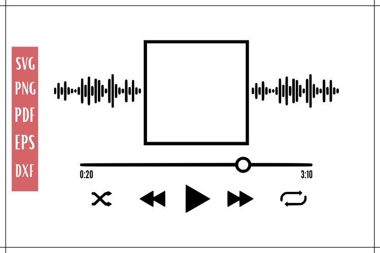 Music Player SVG | Audio Player SVG File