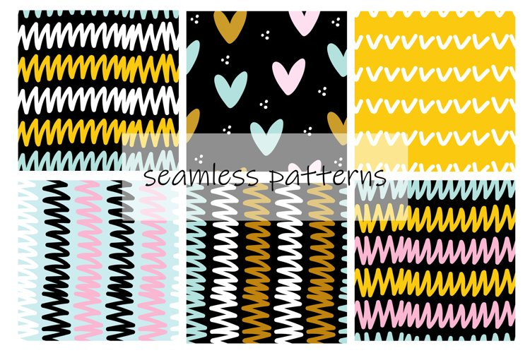 Abstract Digital Paper. Abstract Seamless Patterns. example image 1