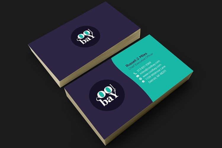 Modern Corporate Business Card example image 1
