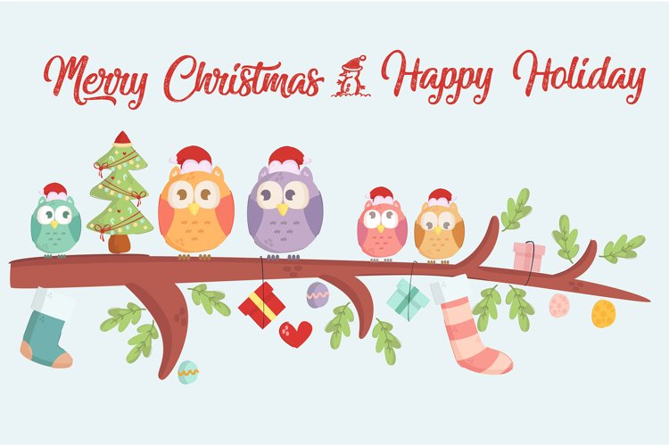 Merry Christmas and Happy Holiday Background