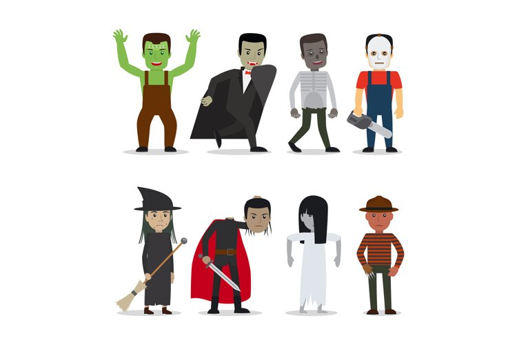 Horror characters vector example image 1