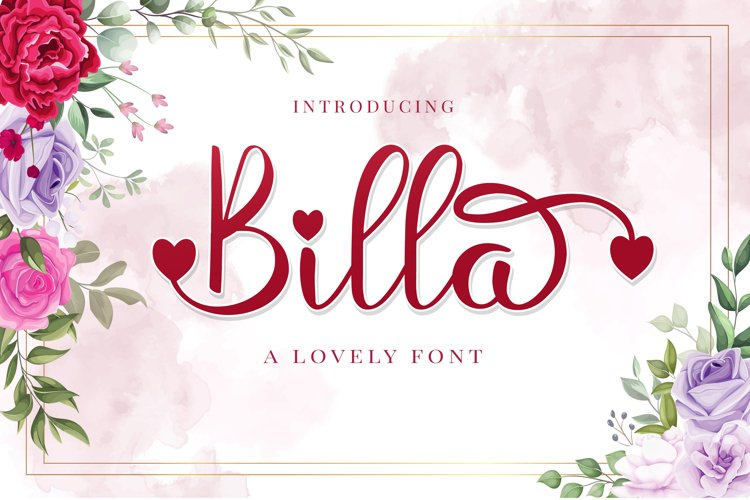 Billa - A Lovely Font example image 1