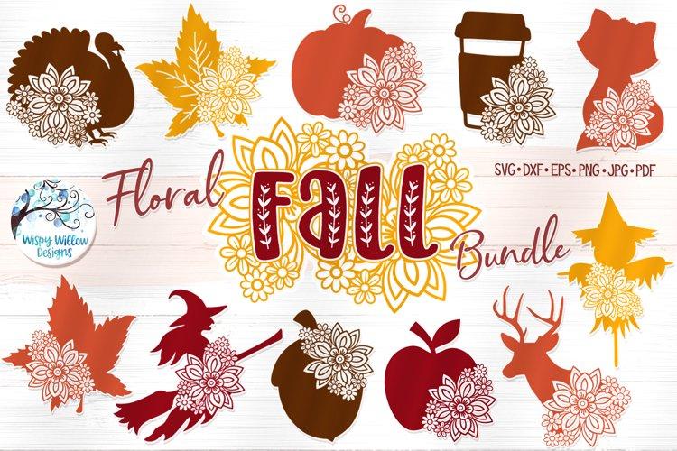 Floral Fall Bundle   Autumn Flower SVG Cut Files example image 1