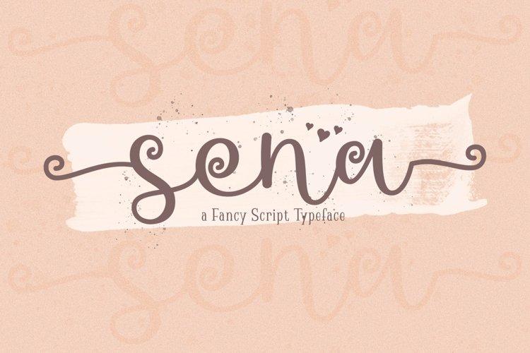 Web Font Sena example image 1