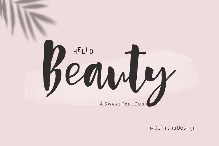 Hello Beauty Script Font Duo example image 1