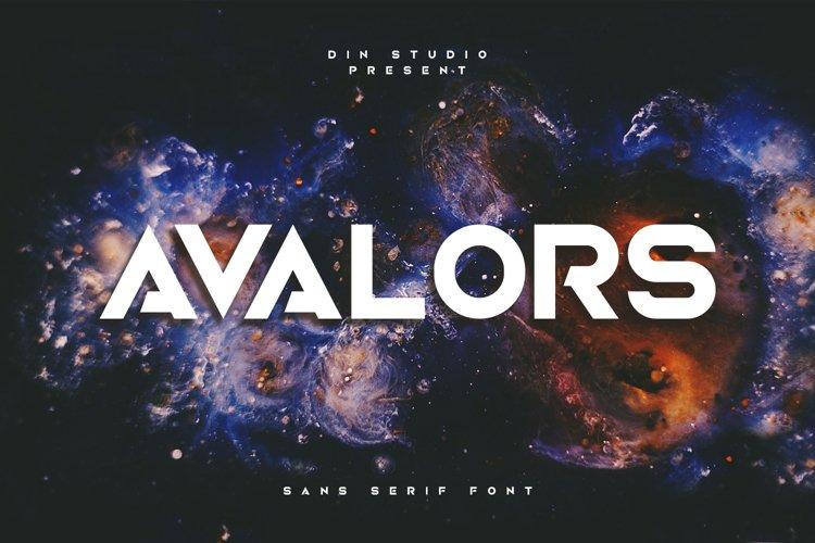 Avalors-Sans Serif Font example image 1