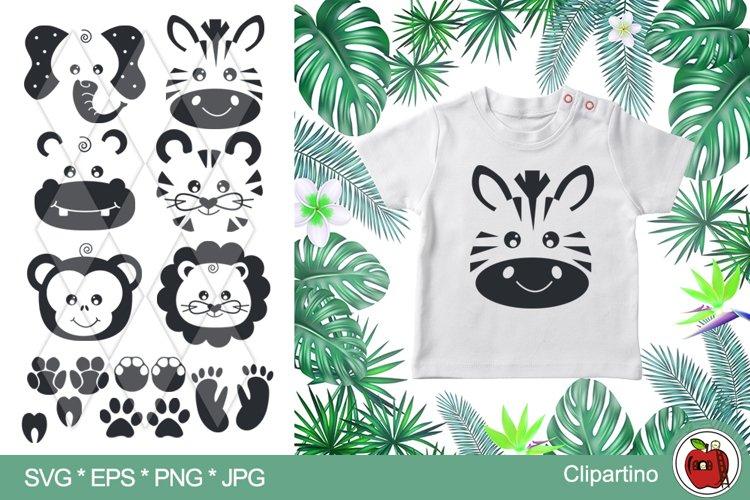 African Animals SVG Bundle-Jungle animals cut file