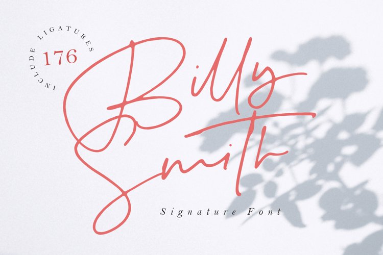 Billy Smith - Signature Font example image 1