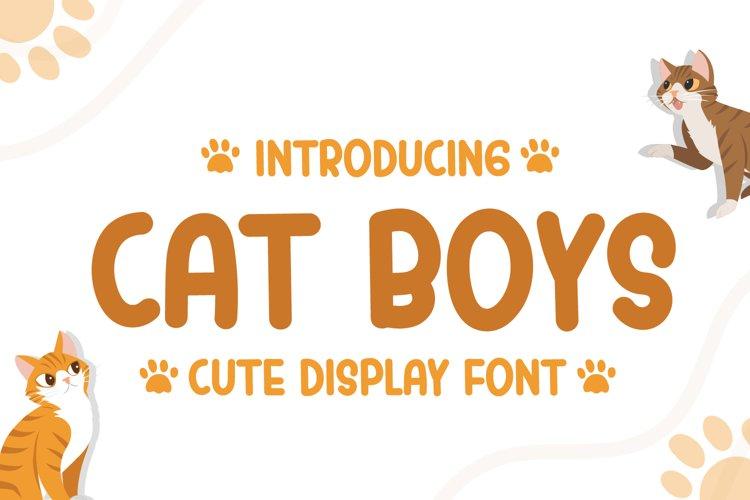 Cat Boys - Cute Display Font example image 1
