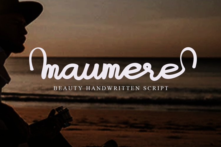 Maumere Beauty Handwritten Script example image 1