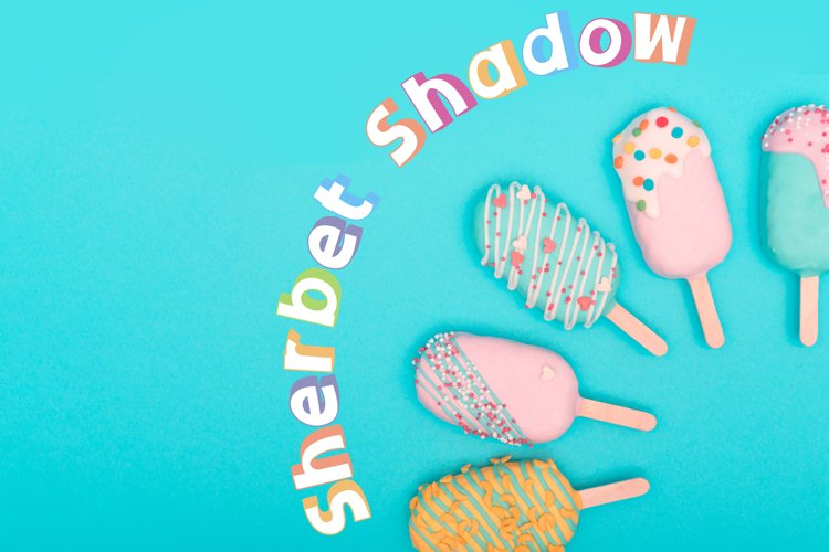Sherbet Shadow SVG Font Duo example image 1