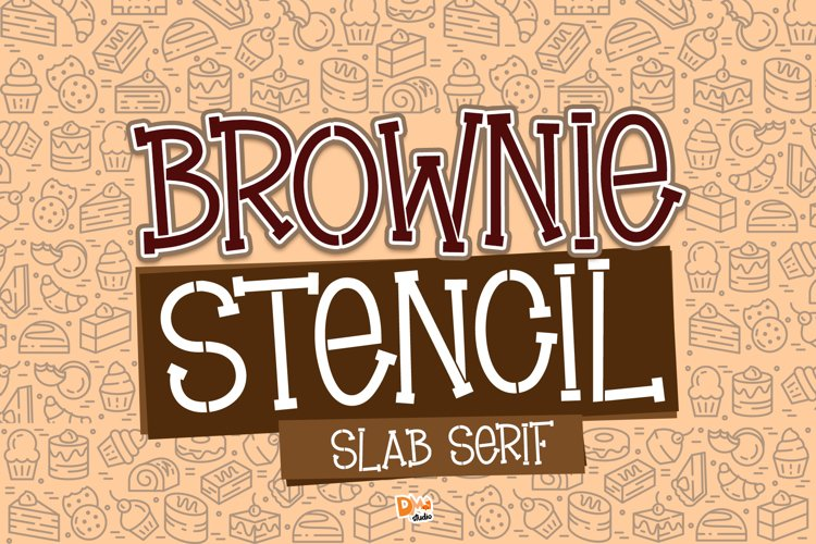 Brownie Stencil - Slab Serif Stencil Font example image 1