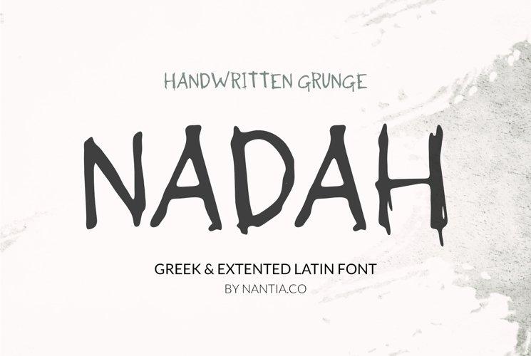 Nadah Grunge Handwritten Greek Font example image 1