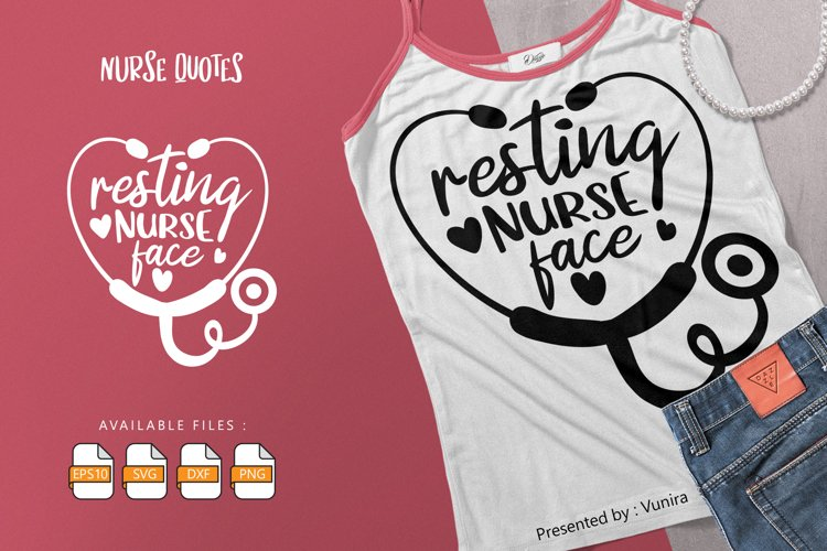 Resting Nurse Face   Lettering Quotes example image 1