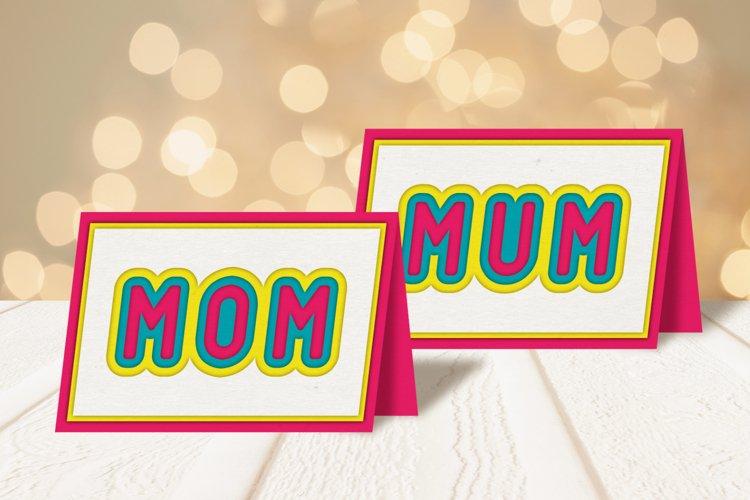 Multi-Layered Mom and Mum Papercut Card SVG