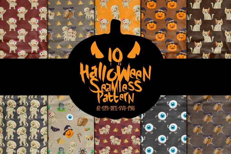 Halloween Seamless Pattern example image 1