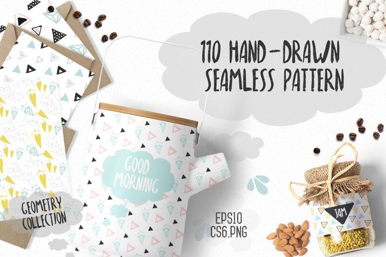 110 Hand-Drawn Geometric Patterns - Free Design of The Week Font