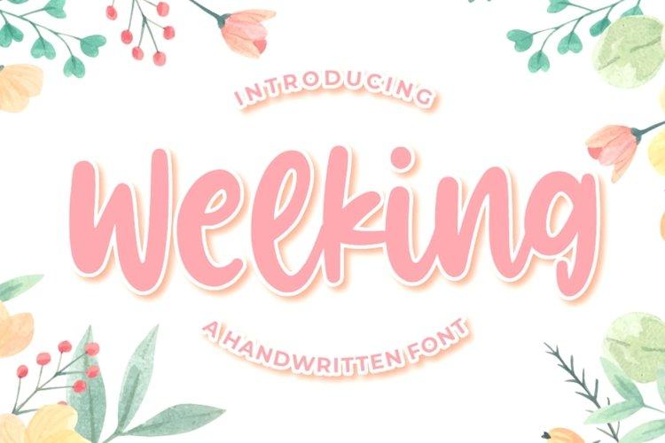 Welking - Handwritten Font example image 1