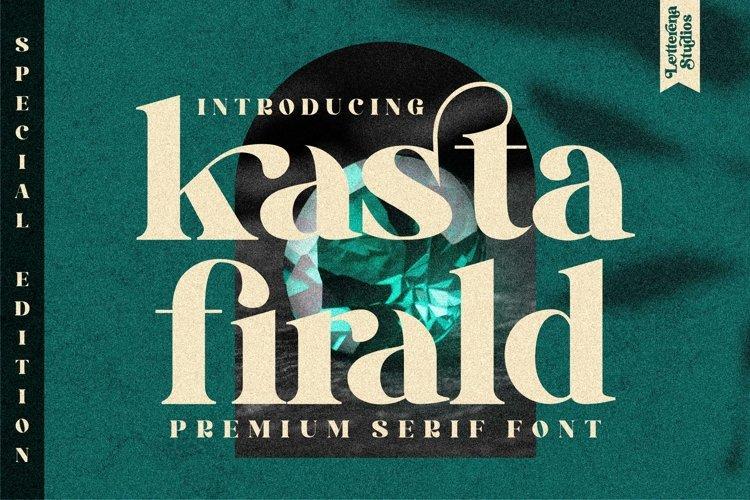 kasta firald - Luxury Serif Font example image 1