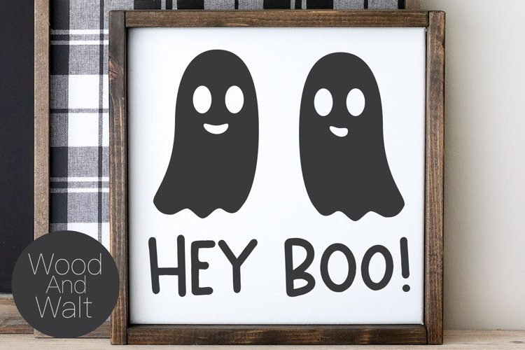 Hey Boo SVG   Halloween Ghost Cut File example image 1
