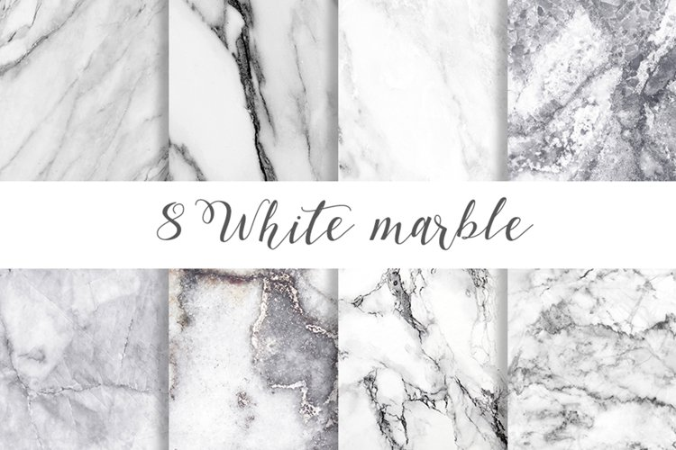 White marble digital paper pattern example image 1