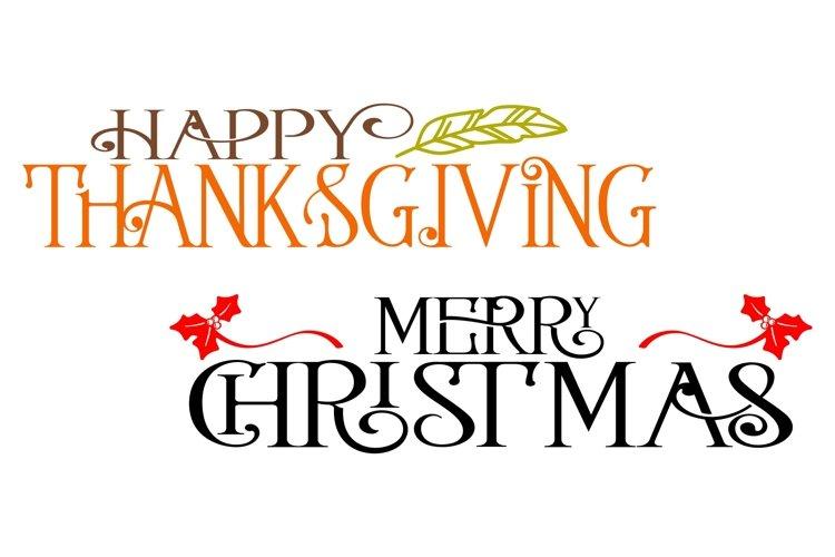Thanksgiving & Christmas SVG Bundle- 2 Files example 1