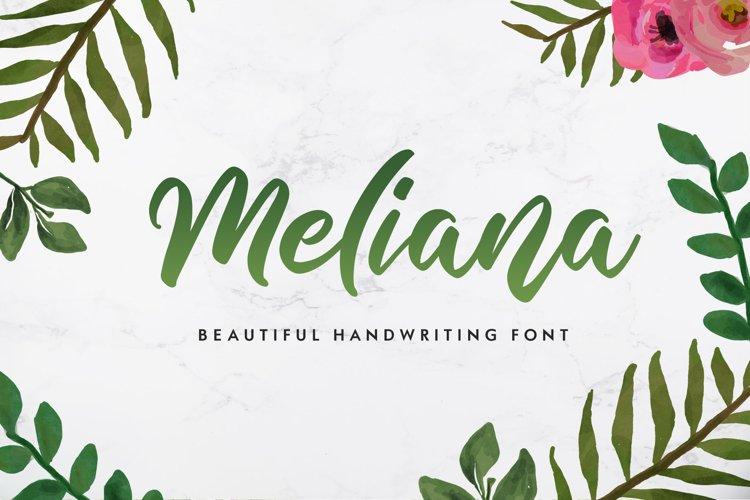 Meliana Script example image 1