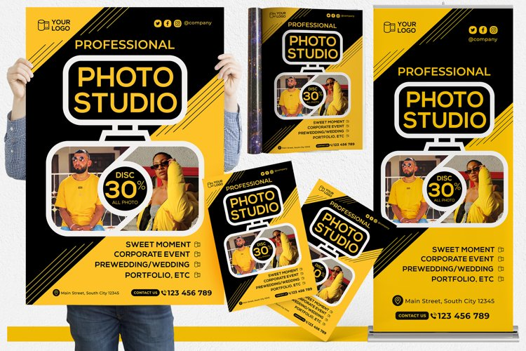Photography Studio #01 Print Templates Pack example image 1
