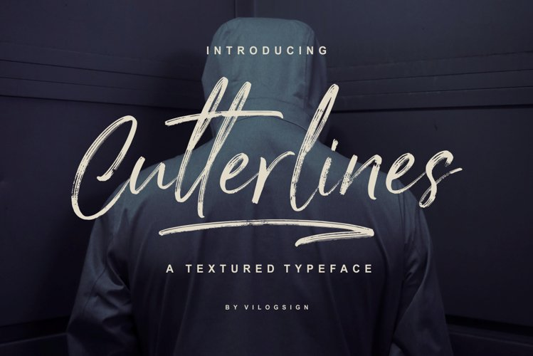 Cutterlines a Textured Typeface Script Font example image 1