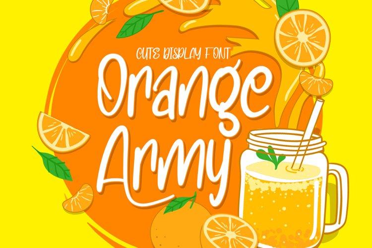 Orange Army - Cute Display Font example image 1