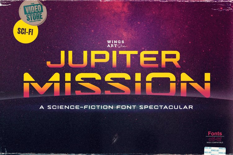 Jupiter Mission A Science-Fiction Font Spectacular example image 1