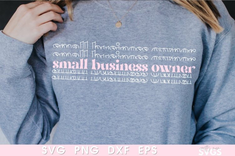 Small Business Owner SVG | Shop Small Sweater Cut File |