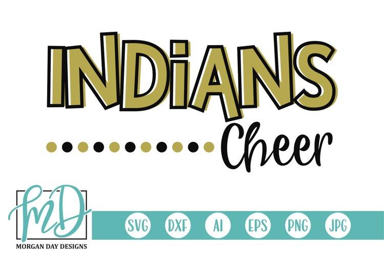 Cheerleader - Sports - Indians Cheer SVG example image 1