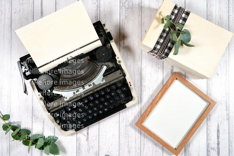 Farmhouse Vintage Typewriter & Frame Craft Mockup JPEG Photo