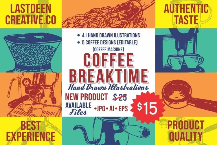 COFFFEE BREAKTIME ILLUSTRATIONS