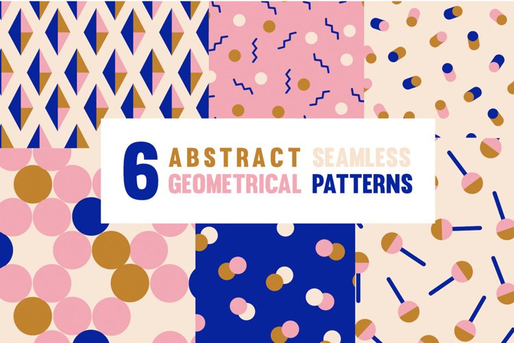 Seamless Modern Geometrical Abstract & Minimalistic Patterns