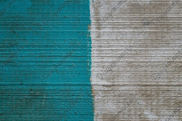 paint on a wooden board. wood texture. blue and white paint