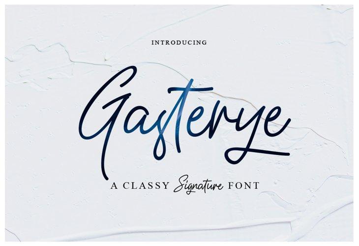 Gasterye Script example image 1
