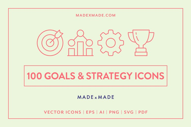 Goals & Strategy Icons
