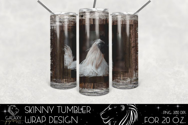 Rooster Farm Life 20 Oz. Skinny Tumbler Wrap Sublimation Des example image 1